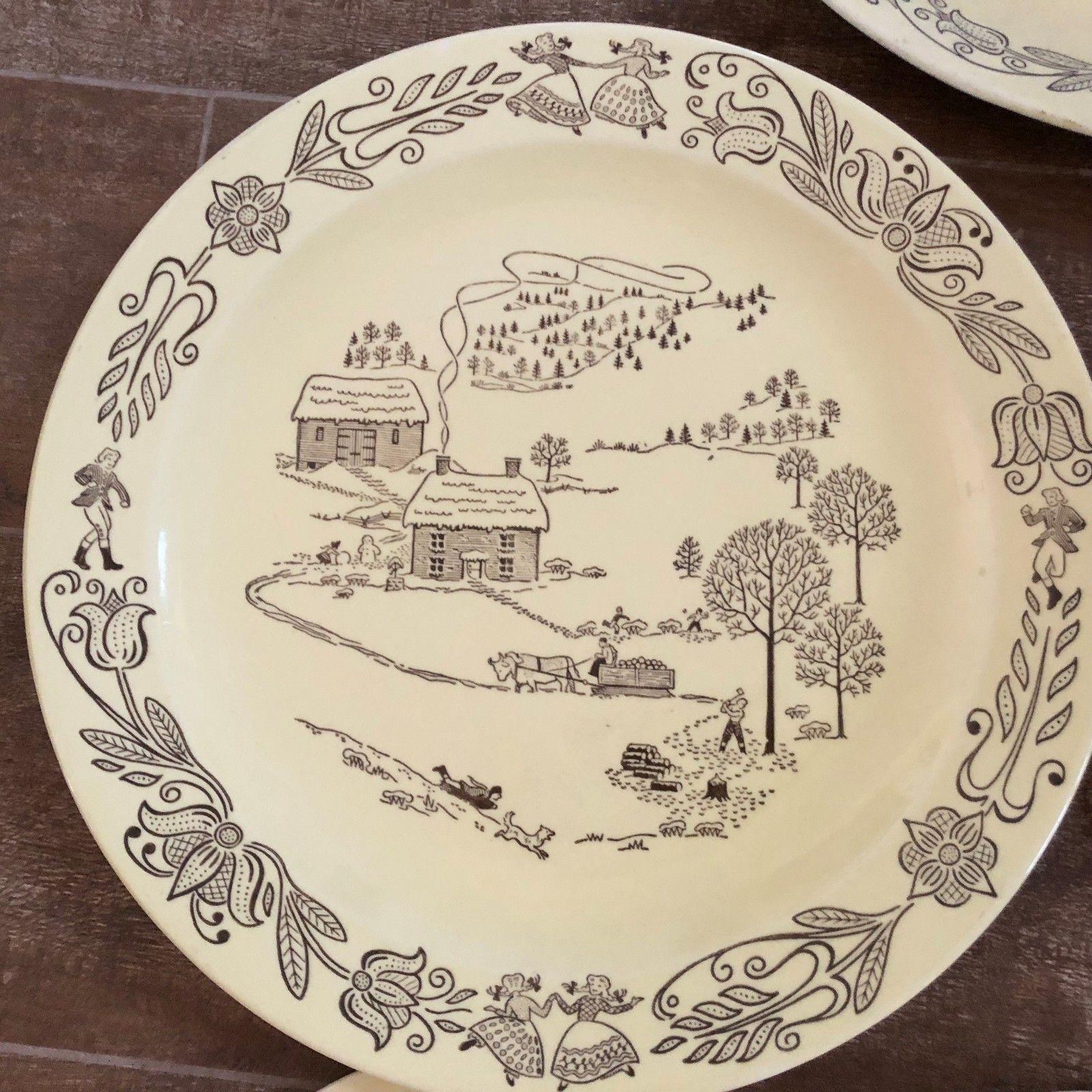 Bucks County china vintage serving platter salt pepper Sebring Ohio royal lot