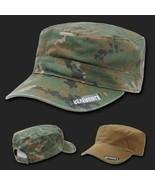 WOODLAND DIGITAL REVERSIBLE FLAT TOP CAMO CADET HAT CAP - $31.58