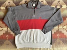 VTG 80s 90s Nike Color Block 1/4 Zip Sweatshirt Sz XL - Grey Tag Mini Sw... - $59.39