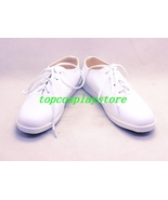 Black Butler Viscount White Cosplay Flat Shoes boots with shoestring - $62.00