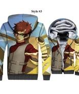 3D Hoodie Men Print Gaara ,Naruto Uzumaki Anime Sweatshirt Winter Thick - $67.99