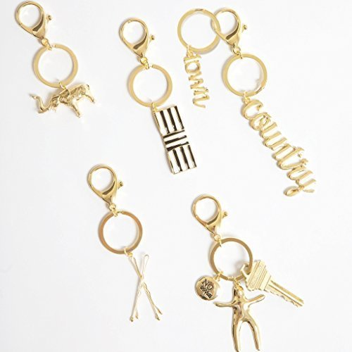 Shiny Brass Elephant Keychain