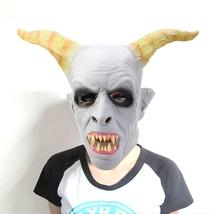 Artificial Halloween Latex Ghost Face Mask(LIGHT GRAY) - £15.33 GBP