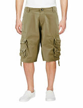 Men's Relaxed Fit Multi Pocket Cotton Casual Military Cargo Shorts image 4