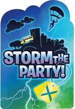 Battle Royal Storm Party Birthday Invitations Postcards ~8PCS Gamer Vodegame Boy - $5.89
