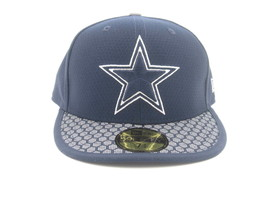 New W/ Tag Dallas Cowboys New Era On Field Sideline Fitted Hat Sz 7 1/8 MSRP $40 - £18.78 GBP