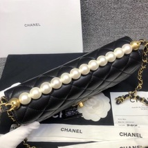 BNIB BRAND NEW AUTH CHANEL 19SS PEARL BLACK LAMBSKIN QUILTED FLAP BAG RECEIPT  image 6