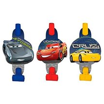 "amscan 331763 Disney©""Cars 3"" Blowouts, 8 pcs, Party Favor, Multicolor - $4.21"