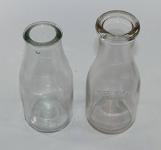 2 vintage pint bottles- no dairy listed- one from Thatcher, other Owens-Illinois - $9.10