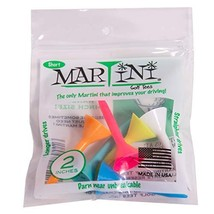 """Martini Golf Tees 2"""" Durable Plastic Tees 6-Pack, Assorted Colors - $6.24"""