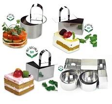 NewlineNY Stainless Steel Dessert Rings 12 Pcs Molding, Layering, Cake C... - $29.86