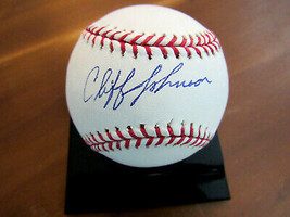 CLIFF JOHNSON 1977-1978 WSC NY YANKEES HOUSTON SIGNED AUTO OML BASEBALL ... - $79.19