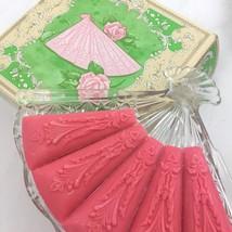 Vintage Avon Hostess Fancy Soap Dish With Soaps Glass Fan Shaped Elegant... - $16.79