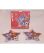 New Gorham Crystal Santa 2 Star Holiday Plates Christmas Holiday Candy M... - $11.89
