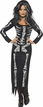 Smiffy's Skeleton Costume Adult Womens Fancy Dress Halloween Costume 38873 - $18.89