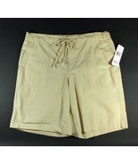 "NWT RALPH LAUREN Size L 12 14 Khaki Cotton 10"" Ribbed Waist Shorts New - $29.00"