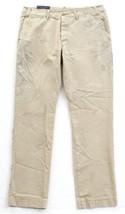 Polo Ralph Lauren Tan Vintage Destroyed Distressed Button Front Pants Me... - $74.24