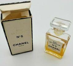 CHANEL NO. 5 Mini Miniature Eau de Parfum 60% Full Perfume .13 Oz w/ Box Vintage image 4