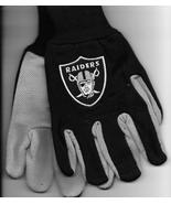 Oakland Raiders team Sport Utility Gloves black gray garden NFL Football... - $17.77
