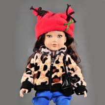 Trendy Plush Leopard Top Coat for 18'' American Girl My Life Doll Clothing - $14.41