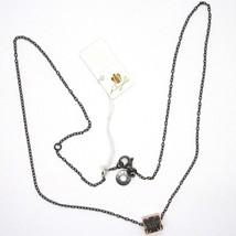 925 Silberne Halskette, Schwarz, Röhre Engel, Zirkonia, Roberto Giannotti, Man image 2
