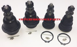 A-Team Performance 4x4 Upper and Lower Ball Joints Set Compatible with Silverado