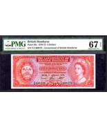 "BRITISH HONDURAS P30c $5 1970 PMG 67 RARE ""QUEEN ELIZABETH II"" PIRATE GO... - $2,450.00"