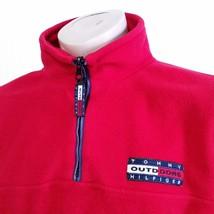 VTG Tommy Hilfiger Outdoors Fleece Pullover Jacket Flag Spell Out 90s Sk... - $69.99