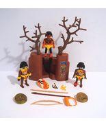Playmobil Aztec Inca Zulu African Tribal Indian Figure Lot With Accessories - $34.95