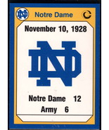 1990 Collegiate Collection Notre Dame #176 1928 Army NM Near Mint - $0.75