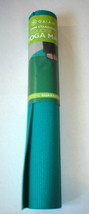New Gaiam Grip Non Slip Mat Hot Yoga Pilates Stretching Aqua Blue Green ... - $25.00