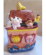 COOKIE JAR  9 inch noahs ark express productions china pre-owned with mi... - $33.65
