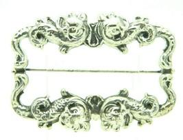 Silver Tone Art Nouveau Style Koi Fish Repousse Vintage Pin Brooch - $29.69