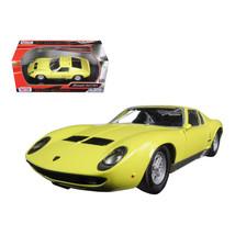 Lamborghini Miura P 400 S Yellow 1/24 Diecast Model Car by Motormax 73368y - $29.91
