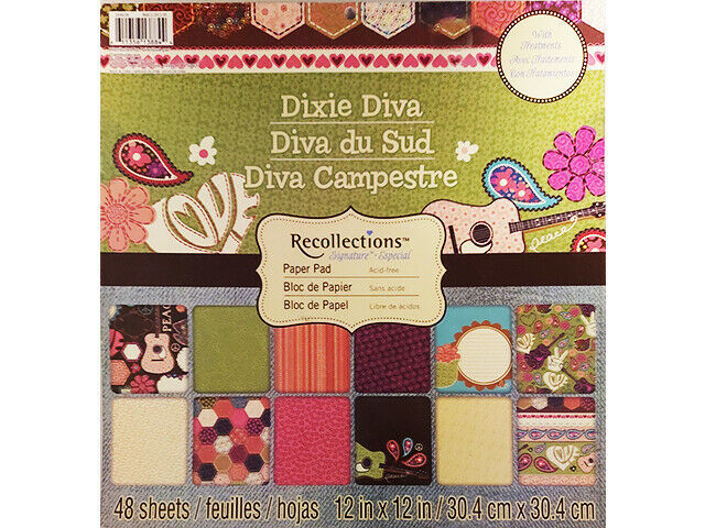 Recollections Dixie Diva Cardstock Paper Pad 48 Sheets
