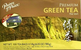 1 Box, Prince of Peace Premium Green Tea 6.35Oz/180g - 100 Tea Bags - $9.95