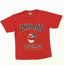 Vintage Cleveland Indians T-Shirt Size L Lee Sports MLB Baseball Red Chief Wahoo - $24.99