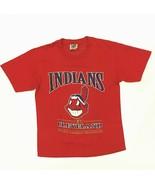 Vintage Cleveland Indians T-Shirt Size L Lee Sports MLB Baseball Red Chi... - $24.99