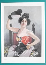 SAHARET  Ms. Campbell Australian Dancer on Broadway - VICTORIAN Era Colo... - $12.60