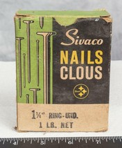 Vintage sivaco points 3.2cm ring und. box packaging advertising mv - $28.03