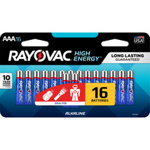 Rayovac 16-Pack AAA Alkaline Batteries - $10.00