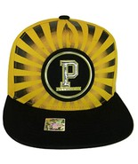 Pittsburgh Men's Striped Cotton Patch Style Adjustable Snapback Baseball... - $13.95