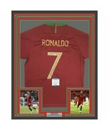 FRAMED Autographed/Signed CRISTIANO RONALDO 33x42 Portugal Red Jersey BA... - $749.99
