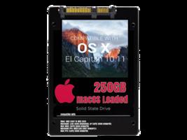 macOS Mac OS X 10.11 El Capitan Preloaded on 250GB Solid State Drive - $69.99