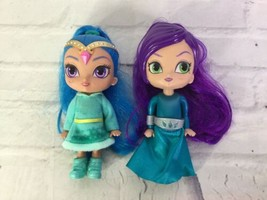 Shimmer and Shine Zeta the Sorceress and Shine Genie Small Dolls Figures... - $19.79