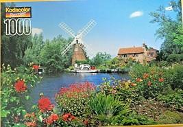 KODACOLOR  PUZZLE Hunsett Mill, Norfolk, England 1000pc Jigsaw Puzzle 1998 - $9.90