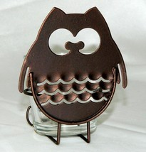 Yankee Candle Metal Owl Sitter Votive Holder Bronze Brown Give A Hoot NE... - £4.55 GBP