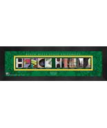 Black Hills State University Officially Licensed Framed Campus Letter Art - $39.95