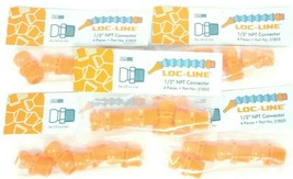 LOT OF 19 NEW LOC-LINE 1/2'' NPT CONNECTOR P/N: 51805