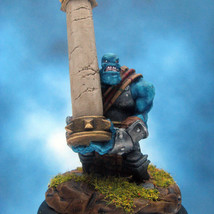 Painted Privateer Press Miniature Kriel Warrior Caber Thrower - $57.12